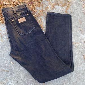 Vintage Men's Black Wrangler Jeans 34x38
